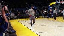 LeBron practices corner 3