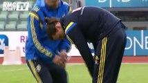 On le sait bien : Zlatan Ibrahimovic ne fait jamais les choses à moitié. Et quand le joueur suédois a chaud à l'entraînement, il fait couper son pantalon pour en faire un short.