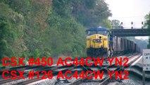 BTC101 ***MUST L@@K*** 3 CSX Coal Trains + Idling Freight @ St. Denis Station 10-10-11