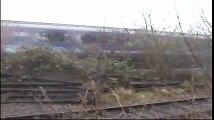 Noisy steam trains at Didcot & noisy fast trains passing by.