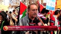 Miles de chilenos marchan por solidaridad con Palestina