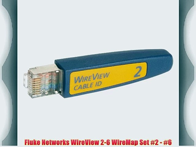 #6 NetAlly WireView 2-6 WireMap Set #2
