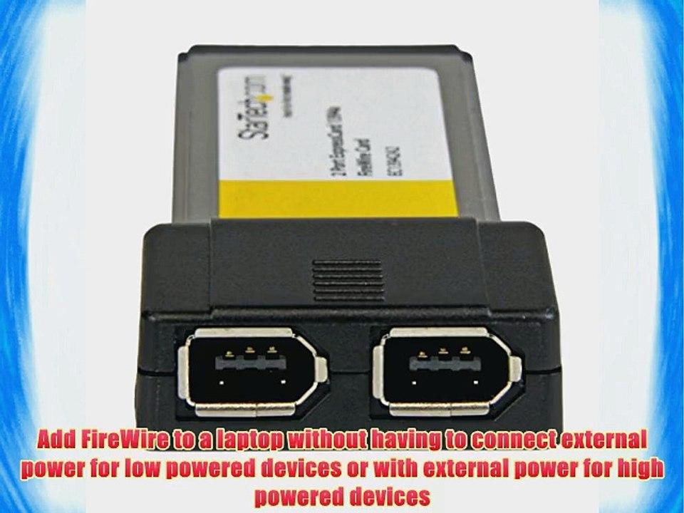 2 X 6-pin Female Ieee 1394a 2 Port Expresscard 1394a Firewire Adapter Card