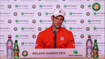 Press conference Novak Djokovic 2015 French Open / Final