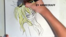 Dessin de lucy ! SPEED DRAWING ! Fairy tail (how to draw lucy fairy tail)