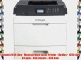 Lexmark MS811dn - Monochrome Laser Printer - Duplex - 1200 dpi - 63 ppm - 650 sheets - USB
