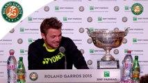 Press conference Stanislas Wawrinka 2015 French Open / Final