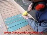 Houten trap meubels spanten balken deuren plafonds mooi blankstralen door De Zandstraal Koning