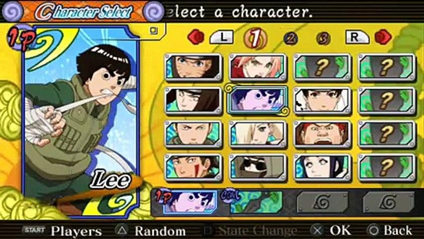 Naruto Shippuden Ultimate Ninja Heroes 3 Gameplay For Psp Video Dailymotion