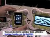 MacWorld 2009: Vestalife Butterfly iPhone / iPod Speaker Dock & 3-D Monitor