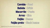 Portuguese Lesson - Learn to Speak Brazilian Portuguese - Food