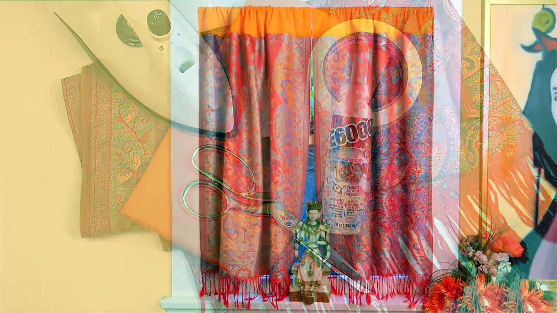 How To No Sew Boho Curtains Video Dailymotion