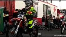 MOTOCICLETAS EN PLENA ACCION EN LA CARRERA BAJA 500 TIJUANA BAJA CALIFORNIA MEXICO JUNIO 2015