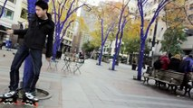 Rollerblade Freestyle!! Inline skate on streets!