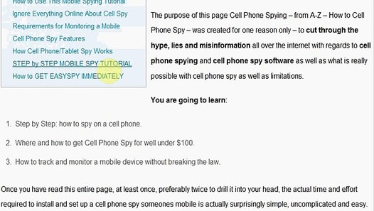 How to Cell Phone Spy A - Z Step by Step Mobile Spying Tutorial