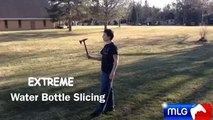 extreme water bottle slicing