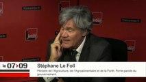 """Stéphane Le Foll """"sidéré"""" par la tribune d'Arnaud Montebourg et Matthieu Pigasse"""