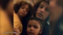David Luiz hangs out with mini David Luis and Thiago Silva