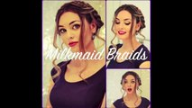 3 NO HEAT Hairstyles! Milkmaid, Braided Bun, & Cascading Side Braid! 720p