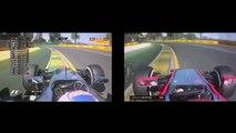 F1 2015 VS F1 2014 Jenson Button Onboard Melbourne Lap Comparison