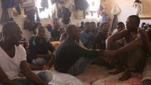 African migrants kept in squalid Libyan detention center