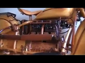Unbelievable* World's only 100 % wood  Indian chief motorcycle