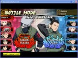Naruto Legends Akatsuki Rising PSP - Kakashi vs Neji