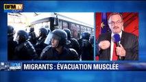 """Migrants évacués à Paris: """"Terre d'asile, ça ne veut pas dire terre de pagaille"""", dit le préfet"""