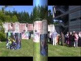 """Installation """"cubes"""", Vernissage Plemet Bodiffé, Manfred La-Fontaine,"""