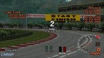 Gran Turismo 2 60 FPS B-5 Subaru Impreza WRX STi Ver.V 1998 283 cv @ Pista Circular 2: Aceleração Simples