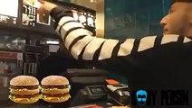 Rapper at McDonalds... rapping his order!!!