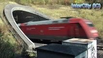 ICE Velaro ICE1 IC - German High Speed trains leaving tunnel