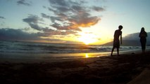 Living in Hawaii: An Amazing Hawaiian Sunset on Kaanapali Beach Maui Hawaii