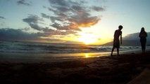 Living in Hawaii: An Amazing Hawaiian Sunset on Kaanapali Beach Maui Hawaii