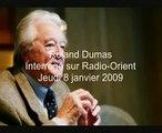 Audio-video : Roland Dumas : « Sarkozy est le complice du nettoyage ethnique organisé par Israël »