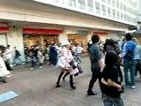 Performing Woman in Shibuya Tokyo Japan