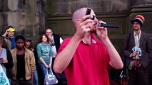 Dave Crowe Beat Boxer On The Royal Mile Festival Fringe In Edinburgh Scotland, Britain, UK