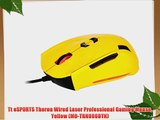 Tt eSPORTS Theron Wired Laser Professional Gaming Mouse Yellow (MO-TRN006DTN)