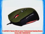 Tt eSPORTS Theron Wired Laser Professional Gaming Mouse Green (MO-TRN006DTK)