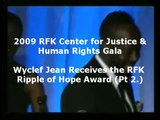 Wyclef Jean Receives the RFK Center Ripple of Hope Award (Pt. 2)