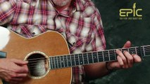 Play EZ classic country song Merle Haggard No Hard Times Blues guitar lesson with chords strums