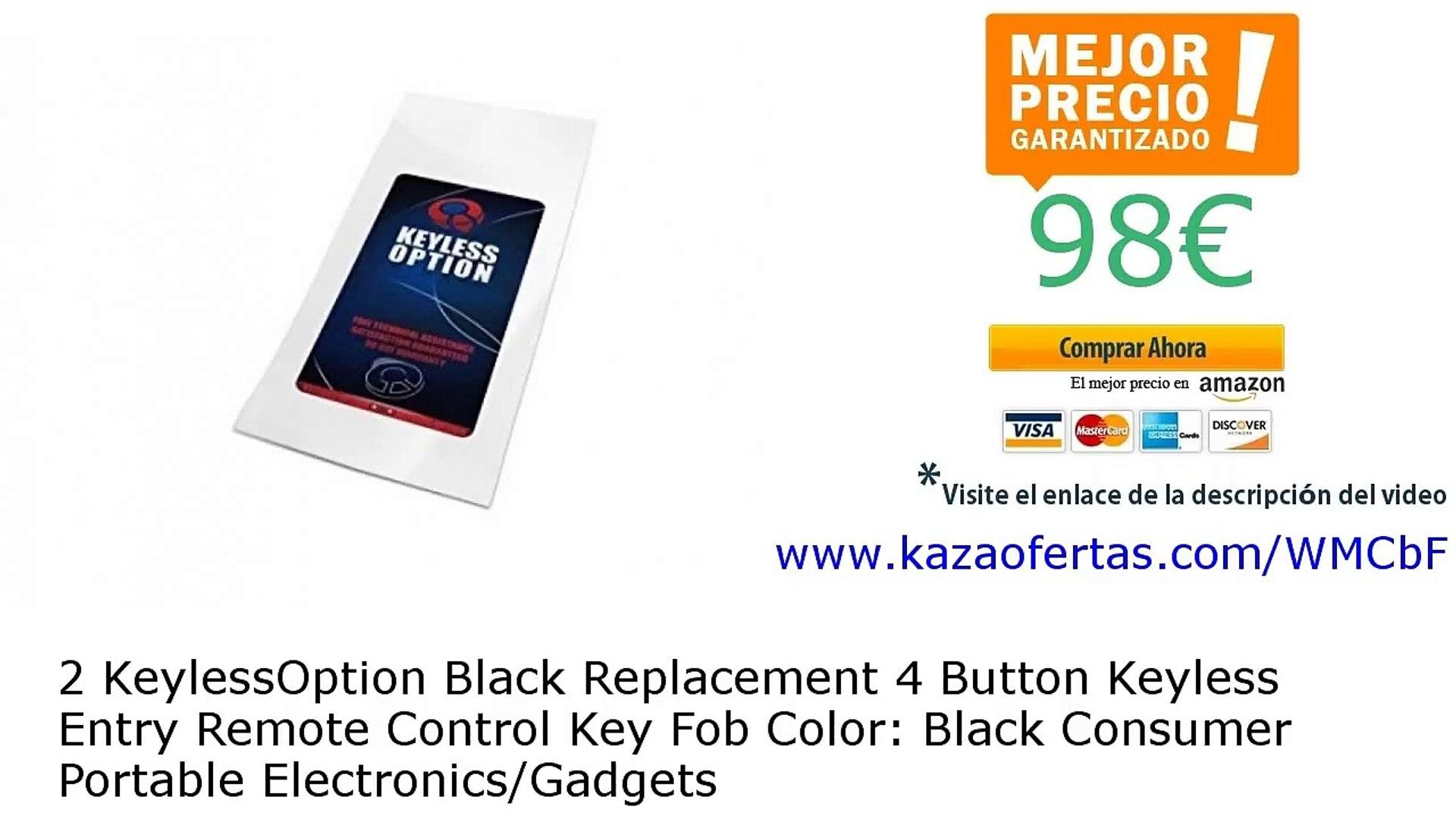KeylessOption Replacement 4 Button Keyless Entry Remote Control Key Fob