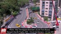 Renault Clio 4 RS Trophy : un tour du circuit de Monaco avec Max Verstappen - AutoMoto 2015