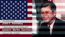 John F  Kennedy  Ich bin ein Berliner  June 26  1963 speech Berlin
