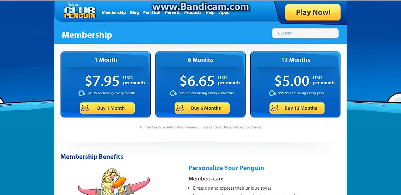 Clubpenguin – Activating Membership