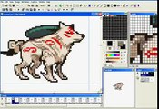 Amaterasu (Okami) - Idle Animation