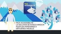 Accessibilité des systèmes d'impression Konica Minolta