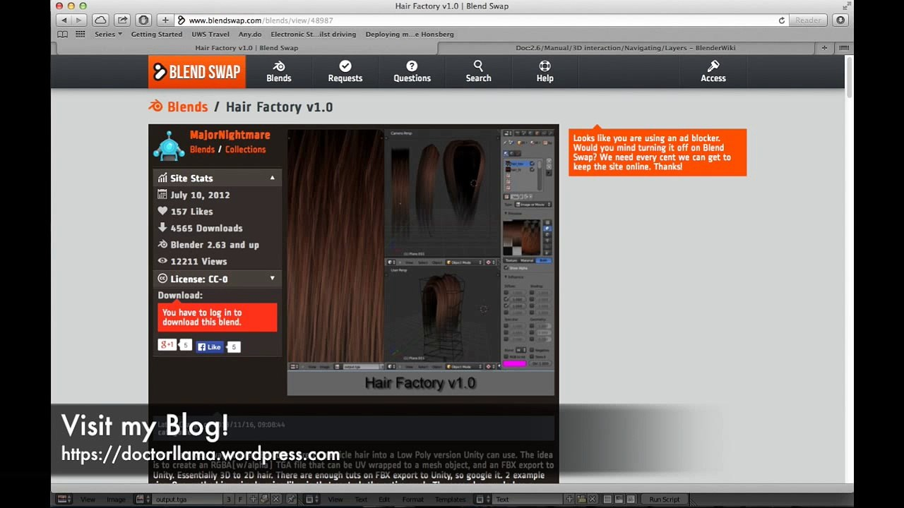 Creating Low-Poly Hair for Unity 3D using Blender 3D