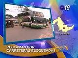 Transportistas reclaman por carreteras en mal estado, en Pucallpa