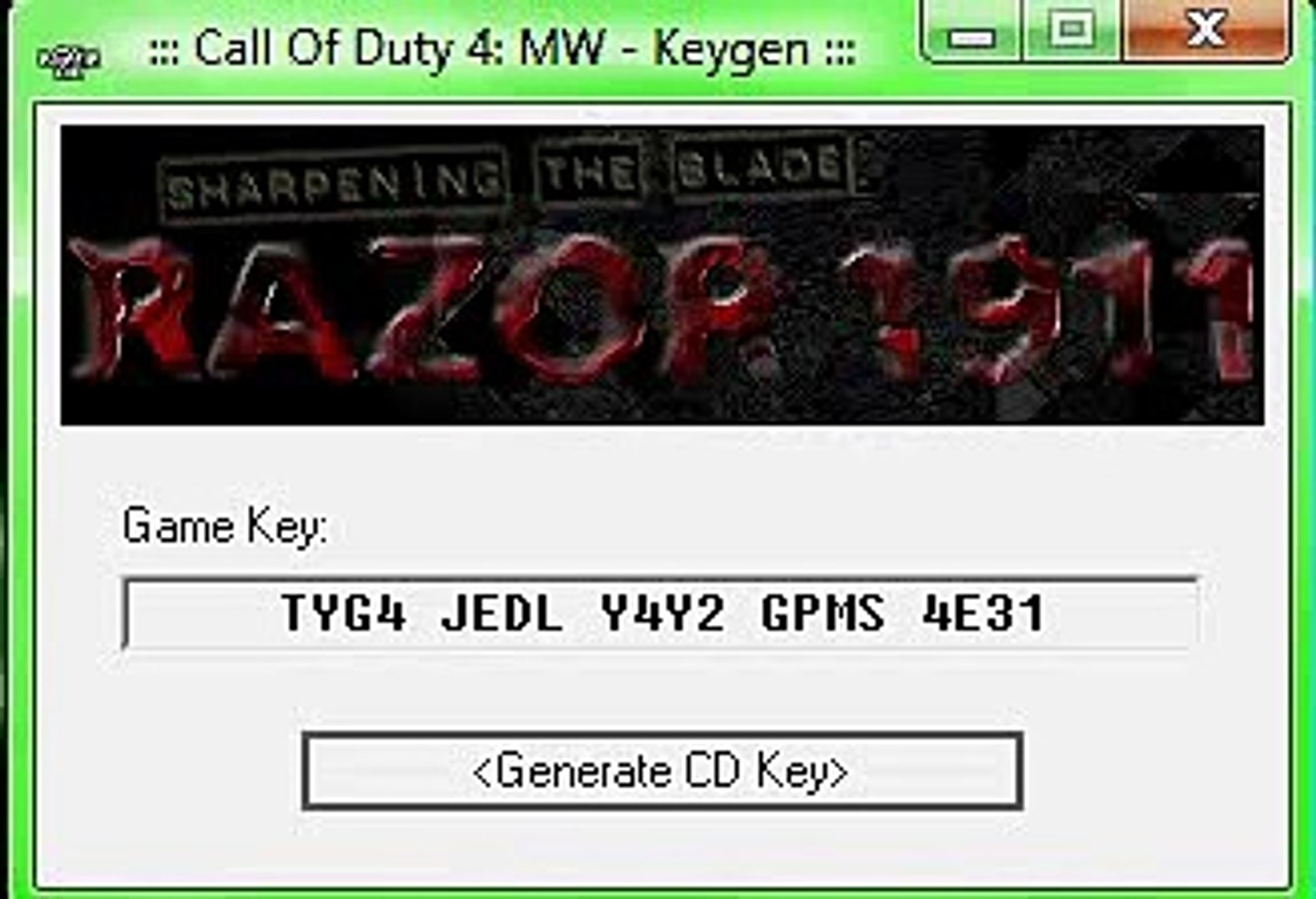call of duty 4 multiplayer key code free